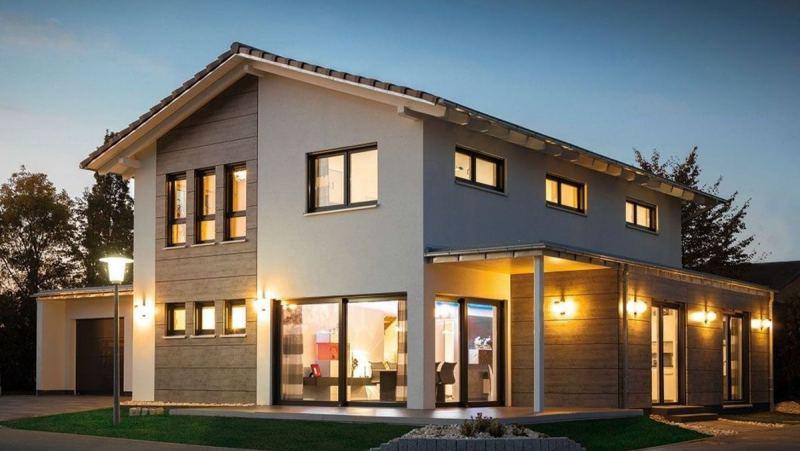 Комбинированные фасады домов: 115 фото и видео недорогих идей оформления домов