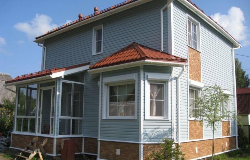 Отделка фасада одноэтажного дома