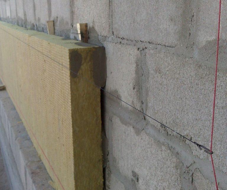 утепление фасада каменной ватой под штукатурку