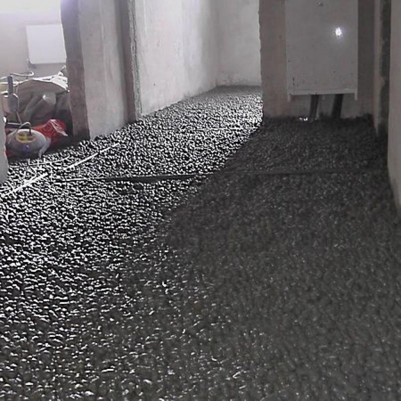 керамзитовый гравий пролитый цементным молочком