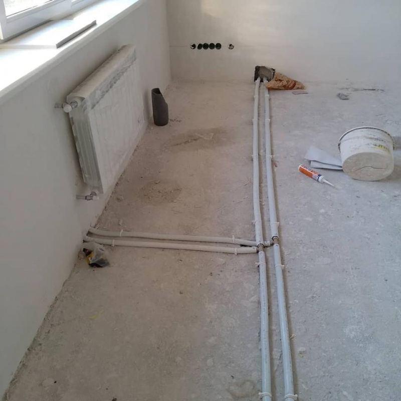 Схема подключения радиаторов отопления с нижним подключением